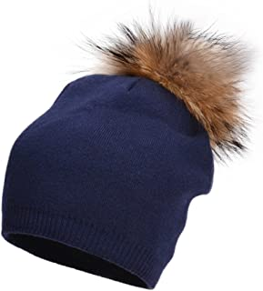 Lawliet Womens Cashmere Wool Hat Knitted Pom Pom Beanie croche Slouchy A392