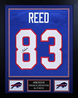 Andre Reed Autographed Blue Buffalo Bills Jersey - Beautifully Matted and Framed - Hand Signed By Andre Reed and Certified Authentic by JSA - Includes Certificate of Authenticity
