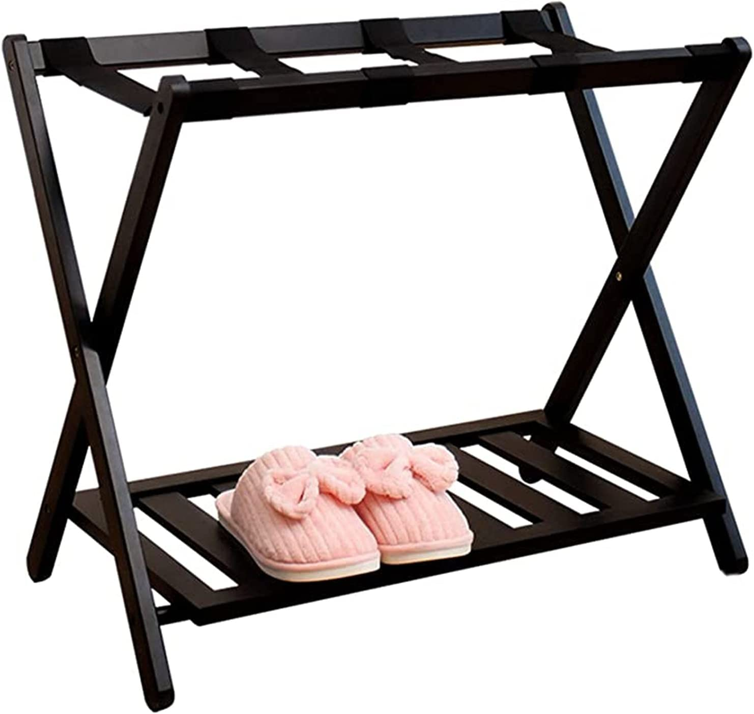 WERTY Luggage Rack with Shelf Lowest price challenge Stand Suitcase D Folding Dealing full price reduction