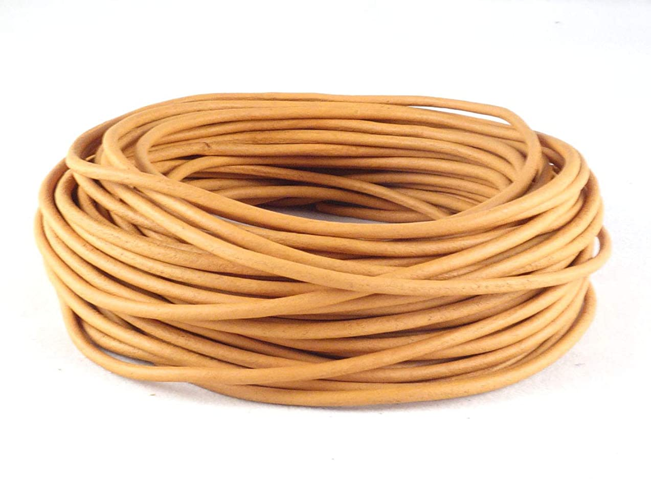 cords craft 2.0mm Genuine Round Leather Cord Leather String Matte Finish for Jewelry Making Bracelet Necklace Beading, 10 Meters / 10.93 Yards, Natural Dye
