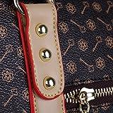 Transporttasche Hundetasche Katzentasche Tragetasche für Hunde bis 5kg Tragebox Hundebox 35*27*20cm (braun) - 4