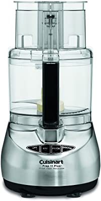 Cuisinart DLC-2011CHBY Prep 11 Plus 11-Cup Food Processor, Brushed Stainless (Renewed)
