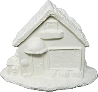 Christmas Village Flower Shop ~ Unpainted Ceramic Bisque ~ Hand Poured in The USA