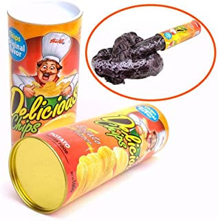 Toonol Halloween Scary Snake Toys Funny Potato Chips Can Trick Novelty Horror Snake Toys Tricky Toys Game April Fools's Day 135cm