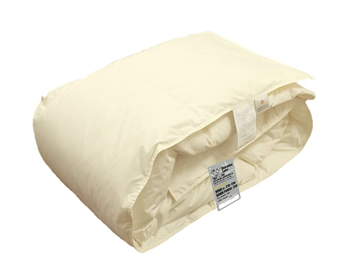ハンガリー産 ホワイトダウン 93% 洗える 羽毛肌布団 (ダウンケット) キング 洗濯ネット付 日本製