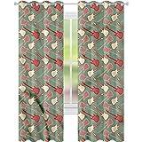 YUAZHOQI Cortinas opacas para guitarra bicolor Bicolor cortinas eléctricas para dormitorio de 52 pulgadas x 63 pulgadas (2 paneles)