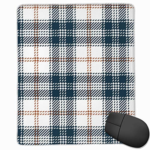 YGVDSE Rubber Mousepad Plaid Pattern Background Scottish 18 X 22 cm Gaming Mouse Pad Rubber Base