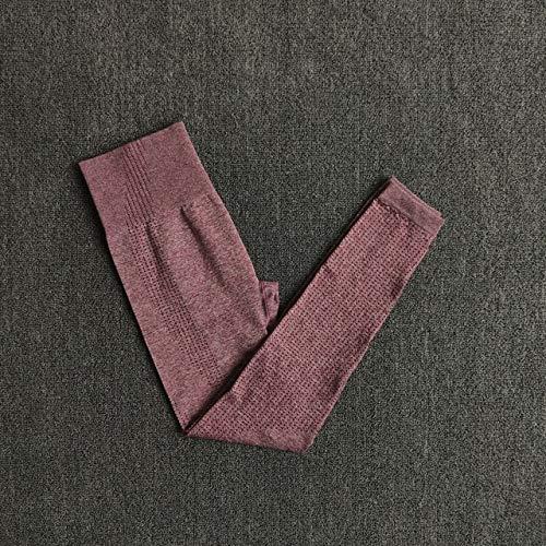 QingYu - Fitness-Dreiviertel-Hosen für Mädchen in Wine, Größe S