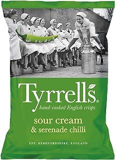 Tyrrell's - Patatas Fritas con Crema Agria y Serenade Chilli (Sour Cream & Serenade Chilli) - Pack de 12 (12 x 150 gramos)