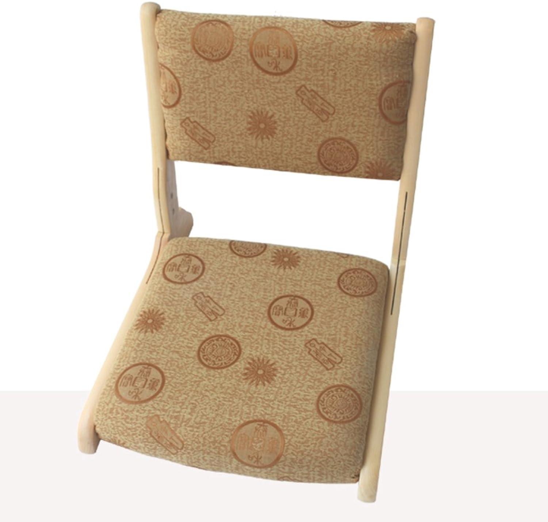 Denzihx Meditation Tatami mats Floor Chair,Folding Natural Materials [Japanese-Style] Bamboo Floating Window Chair-E