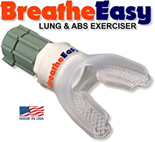 BreatheEasy Lung Exerciser Expander Device w/Informative eBook, Deep Breathing Exercise Device Trainer, Inhale/Exhale RMT, Helps w Endurance! You DON'T Need A COMPLICATED Device! Keep It Simple!