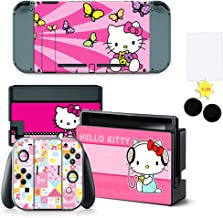 Reiko Full Set Faceplate Skin Decal Stickers for Nintendo Switch with 2Pcs Screen Protector and 1 Pairs Stick Caps,Nintend...