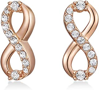MESTIGE Women Crystal Rose Gold Only You Earrings with Swarovski Crystals