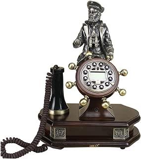 LXYFMS Genuine Oak Antique Telephone European Classical Retro Telephone Fashion Creative Old Helmsman Telephone Telephone