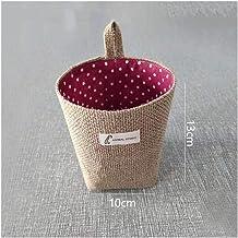 HXSD Home Decor Hanging Wall Pocket Storage Basket Small Sack Sundries Organizer Cosmetic Organizer Cotton Linen Toy Stora...