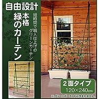 日用品 ガーデニング 花 植物 DIY 関連商品 自由設計 本格 緑のカーテン グリーンカーテンキット 2面タイプ 120×240cm