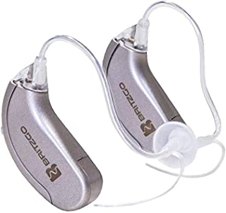Britzgo 702 Hearing Amplifier for Adults to Aid in Hearing and Lifestyle. Layered Noise Cancelling Personal Sound Amplifier PSAP. Right and Left Ears. Dual Pack.