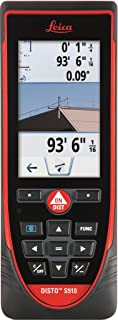 Leica DISTO S910 984ft Laser Distance Measurer, Point to Point Measuring, Red/Black