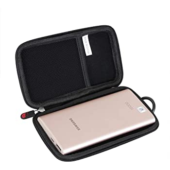 co2crea Hard Travel Case Replacement for Samsung 2-in-1 Portable Fast Charge Wireless Charger Battery Pack 10,000 mAh Silver Grey Case