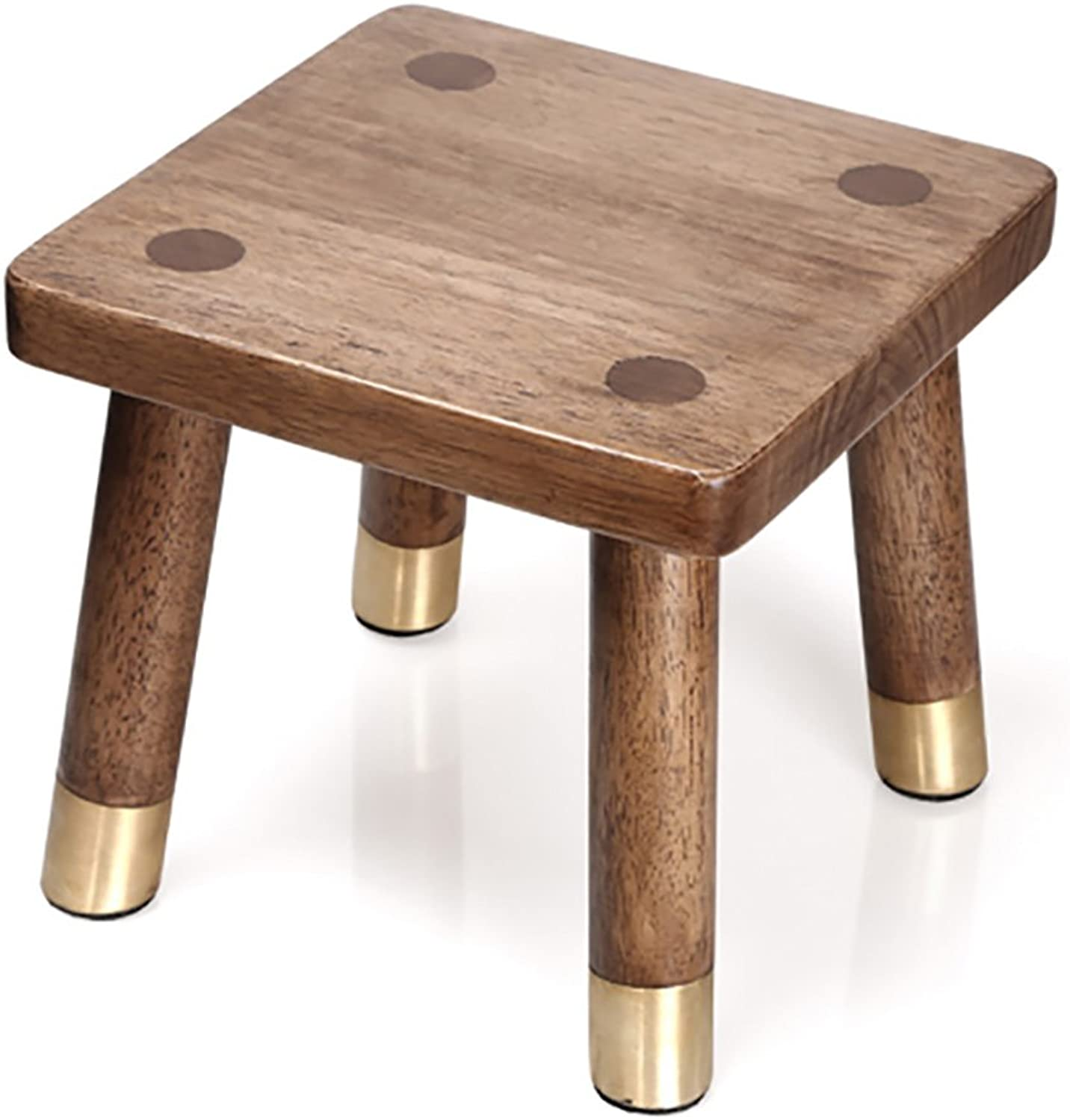 European Chair Solid Wood Small Chair, Fashion Change shoes Bench Square Stool Bathroom Stool Rubber Wood Foot Bathing Foot Stool