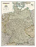 National Geographic: Germany Executive Wall Map - Laminated (23 x 30 inches) (National Geographic Reference Map)