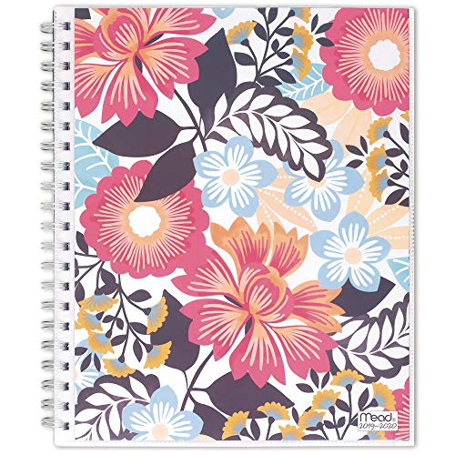 """Mead 2019-2020 Academic Year Weekly & Monthly Planner, Large, 8-1/2"""" x 11"""", Animal Floral, Multicolor (1210-901A)"""
