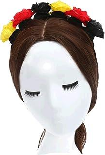 ZADAWERK® Opaska na włosy – kwiaty – Niemcy – artykuł dla fanów – damska – wieniec kwiatowy