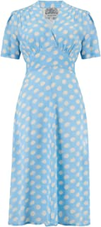 6d7af010deecb The Seamstress of Bloomsbury Dolores Dress in Sky Blue Moonshine Spot  1940's Authentic Vintage Style (