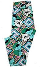 Lularoe Tall Curvy TC Disney Smiling Minnie Mouse Adult Leggings fits 12-18