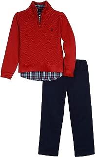 Izod Boys' Toddler 3-Piece Sweater, Dress Shirt, and Pants Set