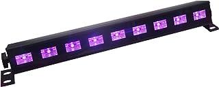 UV Luz Negra,Eleganted Led Barra 9 LEDs x 3W Lámpara de Escenario UV Luces para fiestas Etapa Disco DJ Club Boda Iluminación (9Leds x 3W, UV)