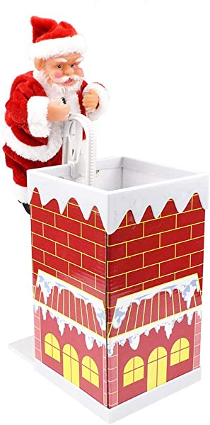 Diamondo Santa Claus Climbing Chimney Doll Electric Toy With Music Christmas Gifts