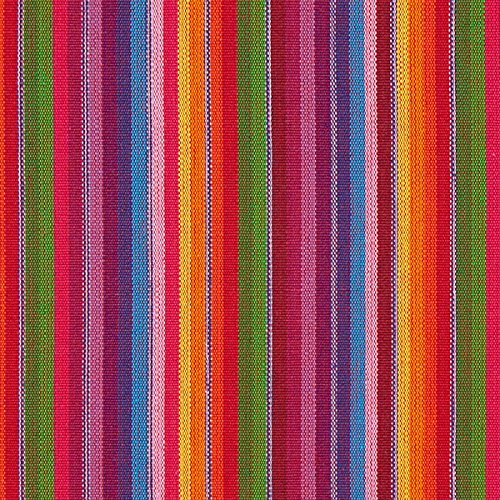 Fabulous Fabrics Webstoff Sancho Pancho – rot — Meterware ab 0,5m — zum Nähen von Hosen, Karneval und Tischdecken