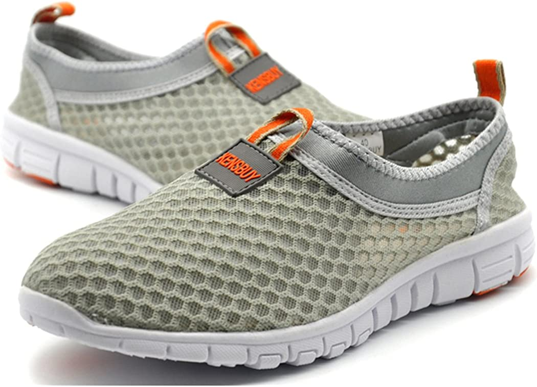 KENSBUY Womens Lightweight Slip on Mesh Shoes Quick Drying Aqua Water Shoes Athletic Sport Walking Sneaker