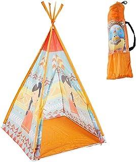 HUVE Indiantält för barn vikbart tipi lektält för barn stort förstärkt lekhus för utomhus och inomhus
