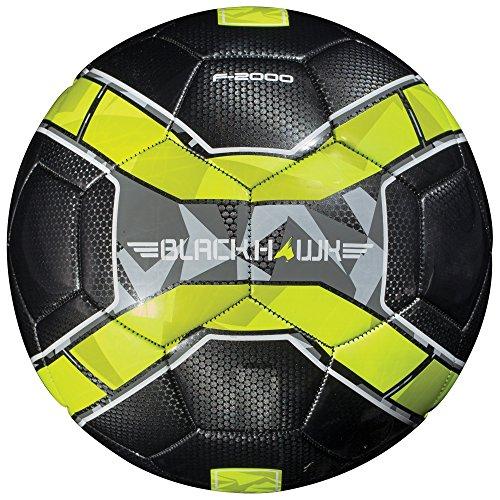 Franklin Sports - Pallone da calcio Blackhawk, Unisex - Adulto, Franklin Sports Blackhawk Pallone da calcio, nero, taglia 4, 30104X, Nero , Misura 4
