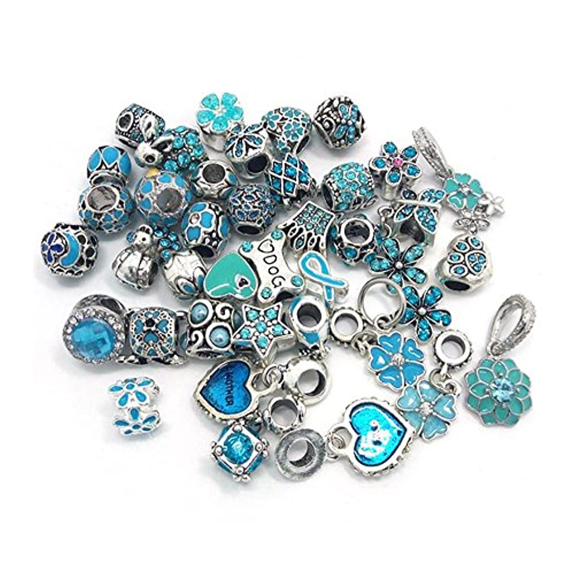 YIQIFLY 40pcs Jewelry Making Charms Rhinesotone Beads Assorted Colors and Styles Randomly (02)