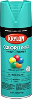 Krylon K05576007 COLORmaxx Spray Paint, Aerosol, Sea Glass
