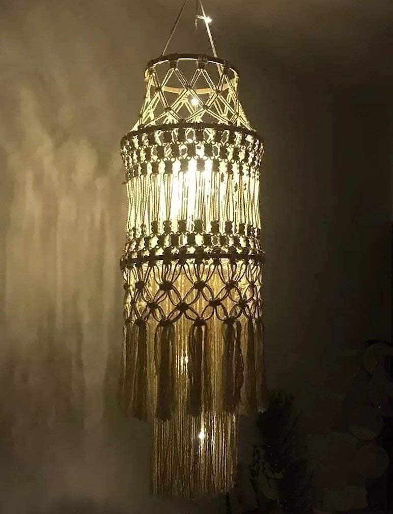 Max 60% OFF Macrame Fringed Lamp Shade Home Décor Max 67% OFF 57