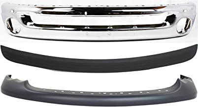 Bumper Cover Kit Compatible with DODGE Full Size P/U 2002-2005 Front Set of 3 With Bumper and Bumper Trim with Sport Model New Body Style Type 2