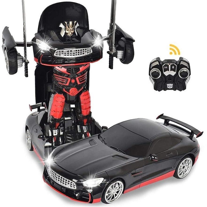 地元朝おなかがすいたVanFty 1:12リモートコントロールカーロボットキッズRC玩具スポーツカーの変換ロボットを変革リアルなエンジン音360スピードドリフト、剣と盾は男の子のためのおもちゃを含ま (Color : Drift King Kong)