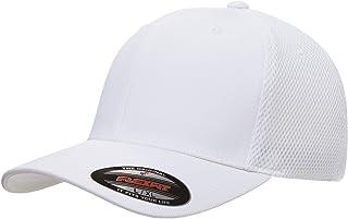 قبعة Flexfit رجالية من الألياف الدقيقة بشبكة هوائية ، أبيض، صغير/متوسط