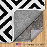 GORILLA GRIP Original Felt and Rubber Underside Gripper Area Rug Pad .25 Inch Thick, 8x10 FT, Made in USA, for...