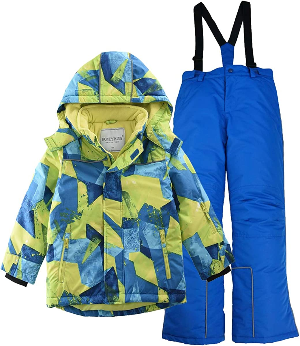 Las Vegas Mall M2C Boys Thicken Warm Max 53% OFF Hooded Jacket Pants Ski Striped Snowsuit