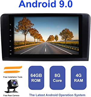 Android Car Radio Stereo,TOOPAI for Mercedes-Benz GL ML Class W164 X164 ML350 ML450 ML500 GL320 GL450 Android 9.0 Octa Core 4G RAM 64G ROM HD Multi-Touch Screen Double Din in Dash Auto Stereo GPS