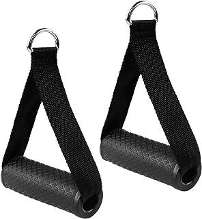 Dadabig 2 stuks eenhands handgrepen voor weerstandsbanden, siliconen handgrepen met massieve ABS-kernen, kabeltrekgreep vo...