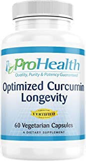 ProHealth Optimized Curcumin Longevity with Neurophenol - Wild Blueberry and Grape Extracts (60 Vegetarian Capsules - 30 D...