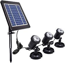 Lossky Energía Solar con energía L-ED Kit de lámpara de Buceo bajo el Agua Sensible Control de luz Sensor Sensor Brillo bajo/Alto 2 Modos de Trabajo Ajustables Efectos IP68 Resistencia al Agua Inco