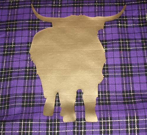 The Dragons Den Just Contempo Housse de Coussin Motif Tartan Violet 45,7 cm, Aberdeen Angus Cow, 16 inch