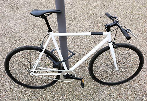 KOHLBURG sicheres Faltschloss mit bequemen Schließmechanismus zum Zudrücken – Fahrradschloss 89cm lang – Klappschloss 670g leicht aus gehärtetem Spezialstahl für E-Bike & Fahrrad - 4